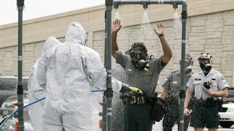 La police du Pentagone mène un exercice de préparation à la guerre biologique © Reuters / Jim Young