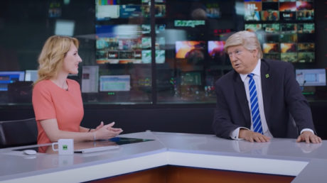 """Some media outlets and political operatives took a parody video of US President Donald Trump as RT's """"special host"""" seriously."""