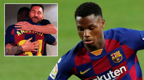 You're STAYING: Barcelona tie teen Fati down with $468MN buy-out clause as prodigy pledges to learn from teammates including Messi