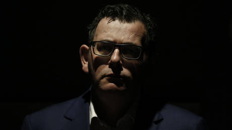 FILE PHOTO: Victoria Premier Daniel Andrews looks on during the daily coronavirus (COVID-19) briefing on August 05, 2020 in Melbourne, Australia.