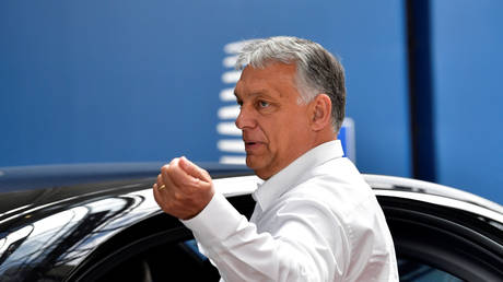 Hungary's PM Viktor Orban leaves after the first face-to-face EU summit since the coronavirus disease outbreak, in Brussels, Belgium, July 19, 2020. © Reuters / John Thys / Pool