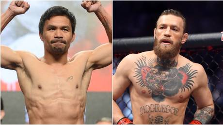 Manny Pacquiao and Conor McGregor are set to meet in the ring in 2021.  © USA Today Sports