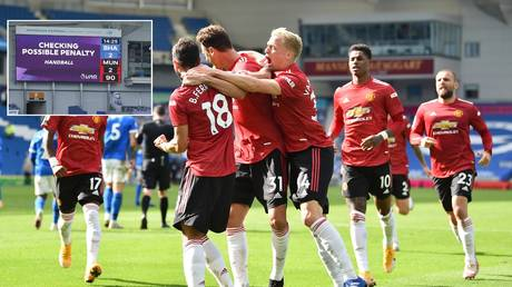 There was remarkable late drama in Manchester United's game at Brighton.  © Reuters