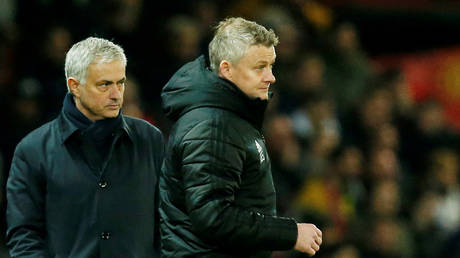 Mourinho had choice words of his own for Solskjaer. © Reuters
