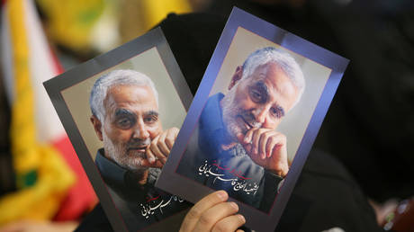 Pictures of the late Iran's Quds Force top commander Qassem Soleimani