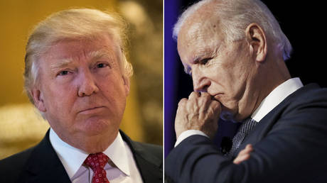 (L) Donald Trump © Getty Images/Drew Angerer;  (R) Joe Biden © Getty Images/Mario Tama
