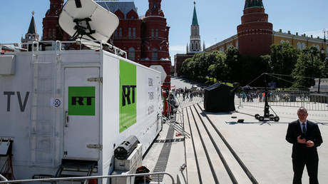 RT vehicles seen near Red Square in central Moscow, Russia, June 15, 2018 © Reuters / Gleb Garanich