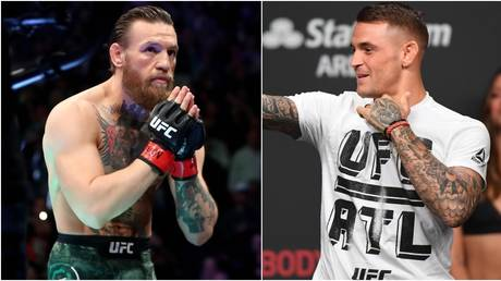 Conor McGregor and Dustin Poirier are set for a December charity contest.  © USA Today Sports