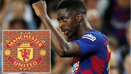 On his way to Old Trafford? Barcelona winer Ousmane Dembele. © Reuters
