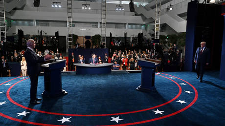 US presidential election debate in Cleveland, Ohio, September 29, 2020