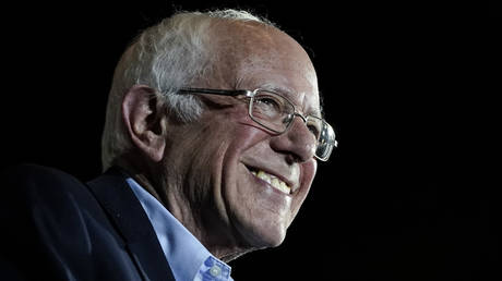 Democratic presidential candidate Sen. Bernie Sanders (I-VT) speaks after winning the Nevada caucuses during a campaign rally at Cowboys Dancehall on February 22, 2020 in San Antonio, Texas.