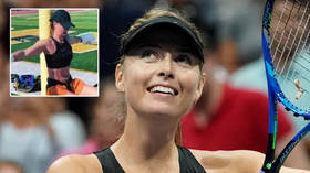 'Sorry I ate in bed': Maria Sharapova reveals her own 'US Open bubble' as she lives it up in California (VIDEO)