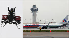 'We just passed a guy in a JETPACK': American Airlines pilot reports bizarre mid-air encounter while landing at LAX
