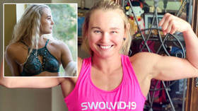 'You better HOPE it's contagious': UFC starlet Andrea 'KGB' Lee claims she has 'SWOLVID-19' as she flexes guns ahead of next fight