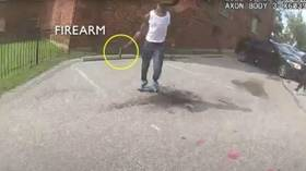 DC 18yo who LIVESTREAMED with gun brandished his weapon while fleeing before being shot – police body cam footage