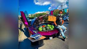 Likes for chunks? Istanbul-based influencer caught using luxury Lamborghini as… watermelon-selling counter (PHOTOS, VIDEOS)