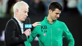 'You got to man up': John McEnroe says Novak Djokovic should embrace 'bad guy' persona following US Open disqualification