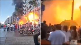 Moment of devastating gas explosion caught on VIDEO in China