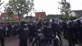 200 police called in after Kurdish protesters abuse female conductor & force train stoppage in Germany