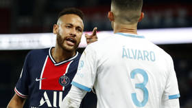 'MONKEY SON OF A B*TCH!' Neymar accuses Marseille defender Alvaro Gonzalez of racism after mass brawl leads to 5 red cards