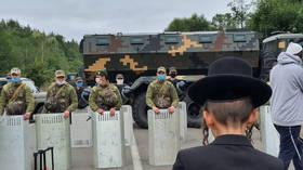 'Humanitarian crisis' unfolds on Ukraine-Belarus border as Jewish pilgrims left stranded after Kiev tightens Covid-19 restrictions