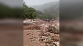 Devastating storm WASHES BEACH AWAY on Greek island of Kefalonia (VIDEOS)