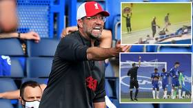 'Class act!' Liverpool boss Klopp hailed after footage emerges showing him reprimanding own bench for celebrating Chelsea red card
