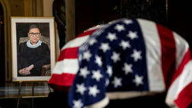 Ruth Bader Ginsburg's trainer drops to floor, does PUSH-UPS beside her casket at US Capitol (VIDEO)
