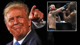 'You look better without a suit': Trump pays bitter Covington rival Usman bizarre tribute as US president continues to court UFC