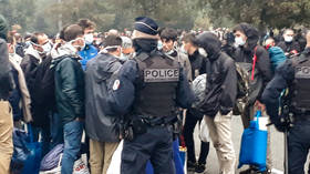 French police clear Calais migrant camp in biggest op since 'jungle' dismantling