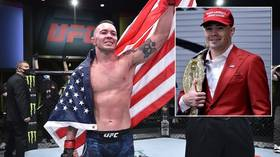 UFC's Covington blasts 'slime in Hollywood & woke sports' for 'wishing harm on a 74-year-old grandfather' as Trump battles Covid