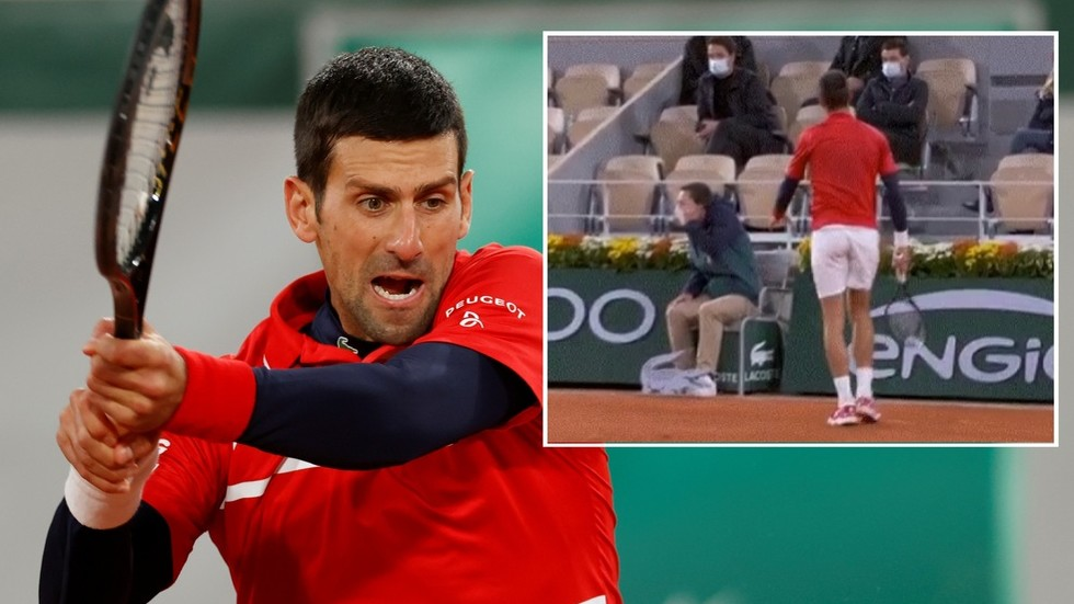 'He's done it AGAIN!' Novak Djokovic hits line judge in face with ball at French Open (VIDEO)