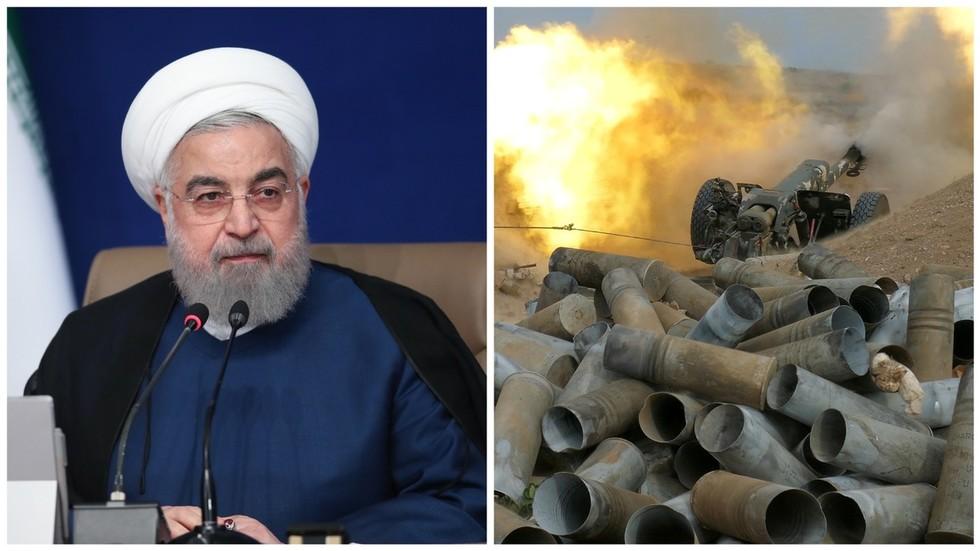 Iran's President condemns use of Syrian 'terrorists' in Nagorno-Karabakh, warns Armenia-Azerbaijan duel could spark REGIONAL WAR