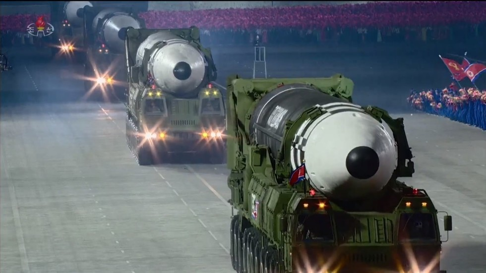 Pyongyang shows off BRAND NEW intercontinental ballistic missile during military parade, according to experts