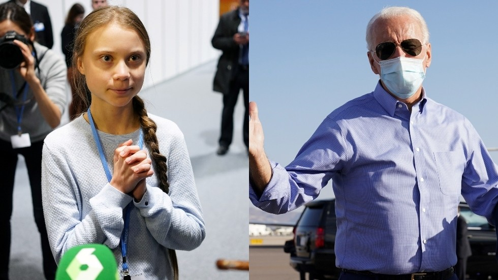FOREIGN MEDDLING? Greta Thunberg urges US voters to support Joe Biden, not the Green Party candidate