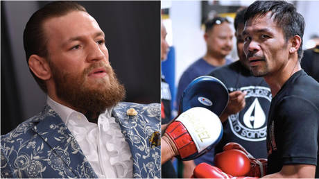 Conor McGregor - / AFP (left); Instagram / Manny Pacquiao (right)