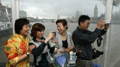 FILE PHOTO: Chinese tourists in London
