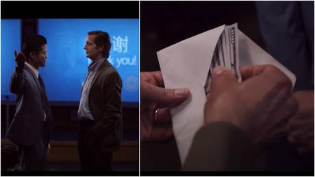 Scenes from the FBI's 'The Nevernight Connection' propaganda film.