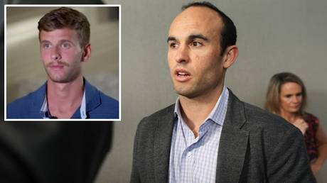 Taking a stand: San Diego Loyal manager Landon Donovan and (inset) player Collin Martin