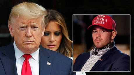 US president Donald Trump (left) has the support of UFC star Colby Covington (right) © Adnan Abidi / File Picture / Reuters | © Instagram / colbycovmma