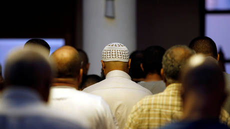 FILE PHOTO: Members of the Muslim community pray during Friday prayers inside the mosque in Frejus, France. September 2016. © Jean-Paul Pelissier / Reuters