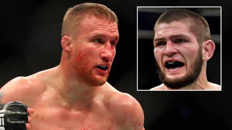 Justin Gaethje (left) takes on Khabib Nurmagomedov at UFC 254 on October 24 © Mark J Rebilas / USA Today Sports | © Stephen R Sylvanie / USA Today Sports