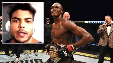Paulo Costa (left) was infuriated by Israel Adesanya's messages after their UFC 253 fight © Instagram / stylebender   © Getty Images / Zuffa LLC