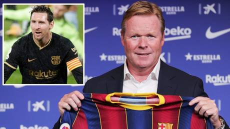 Praise: Ronald Koeman has given credit to Lionel Messi for his attitude