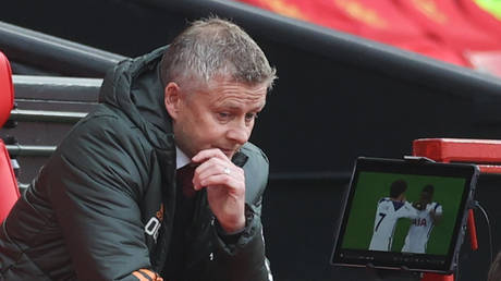 Manchester United manager Ole Gunnar Solskjaer was left with much to ponder after his team's defeat to Spurs. © Reuters