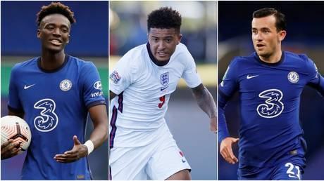 England trio Tammy Abraham, Jadon Sancho and Ben Chilwell. © Reuters