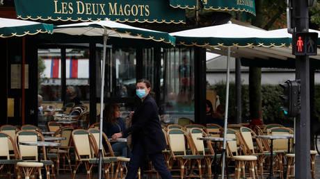 A cafe in Paris, France, October 5, 2020.
