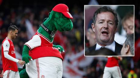 Fans including Piers Morgan are desperate to save Arsenal mascot Gunnersaurus. © Reuters