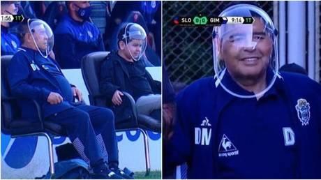 Argentine icon Diego Maradona has been tested for coronavirus. © Screenshot Twitter