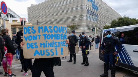 Protests in Marseille over September's restrictions, France (FILE PHOTO) © REUTERS/Noemie Olive